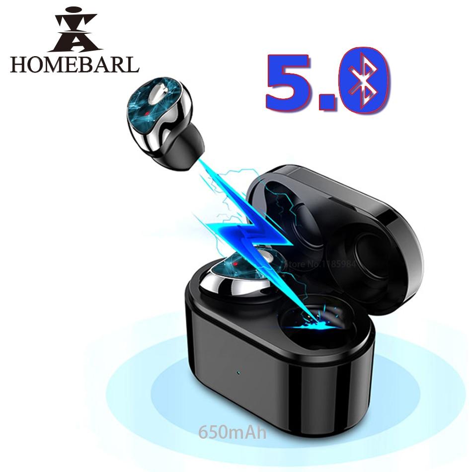 HOMEBARL 2Pcs set Left Right Ears SE 6 Bluetooth Headset Wireless Headphone Music Sport Stereo Earphone