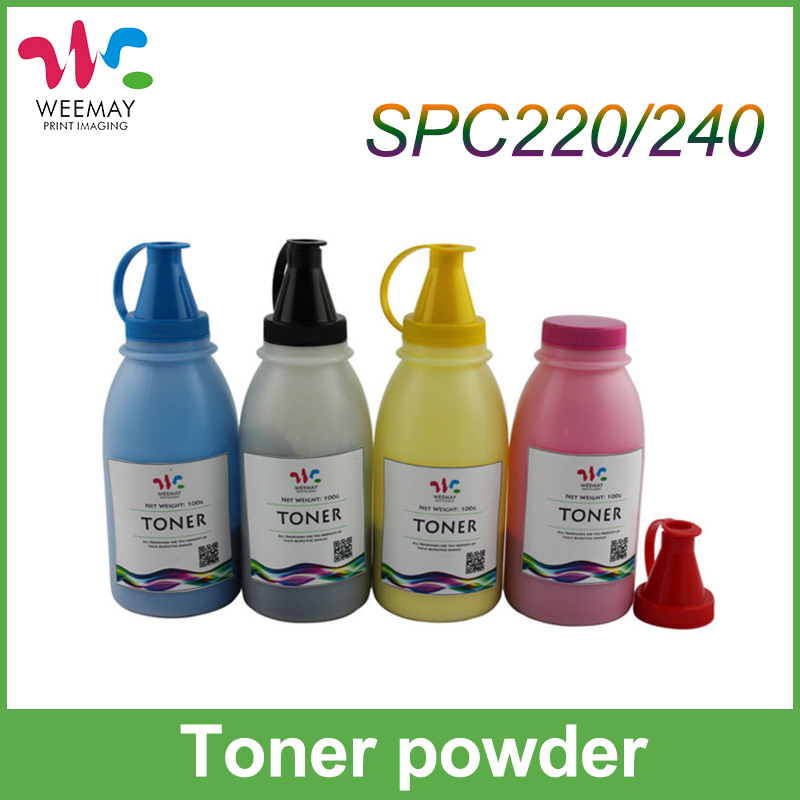 1PCS*100g/bottle Compatible for Ricoh Aficio SP C240DN SPC 220DN toner powder bag powder color printer toner powder for ricoh aficio sp c220 sp c220s sp c220n sp c222dn sp c222sf toner powder low shipping