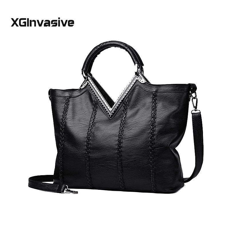 <font><b>2018</b></font> luxurious Leather Handbags <font><b>Big</b></font> <font><b>Women</b></font> <font><b>Bag</b></font> High Quality fashion handbag Female <font><b>Bags</b></font> designer <font><b>shoulder</b></font> <font><b>bag</b></font> Crossbody <font><b>bag</b></font> image