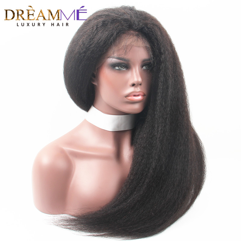 360 Lace Frontal Wig Brazilian Kinky Straight Wigs 360 Full Lace Front Human Hair Wigs For