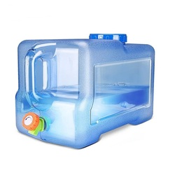 Tanque de agua fresca portátil al aire libre/cubo con accesorios de remolque de motor