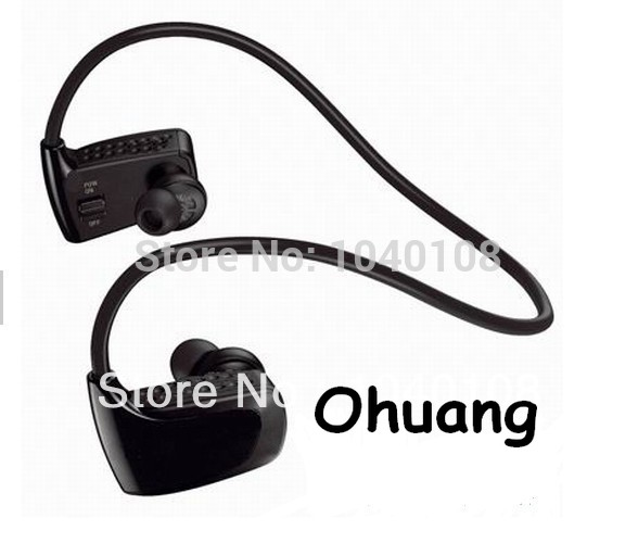 High Quality 2 GB Sweat Resistant Sport Wireless Earphones Headset Sports MP3 Player