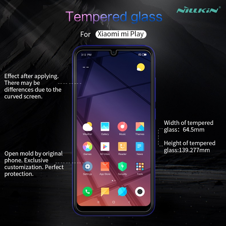 For xiaomi redmi 7 pro glass Screen Protector 5 84'' NILLKIN Amazing  H/H+PRO 9H Tempered Glass Protector for xiaomi play mi play