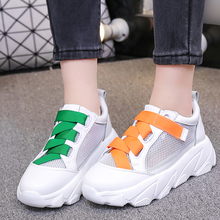 Mesh White Sneakers Women Shoes tenis Wedge Chunky Sneaker Platform 2019 Summer Casual Woman basket chaussures femme