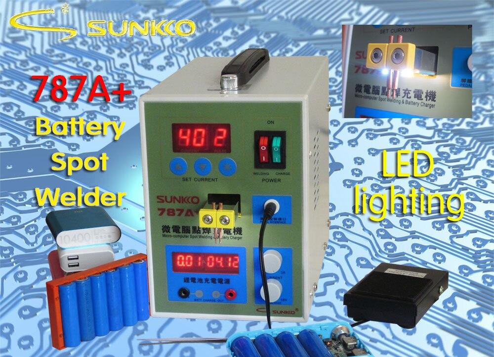 1 Pc 787a Mikrocomputer Dual Pulse Spot Schweißer Schweiß Maschine/batterie Schweißen (maschine + 1kg 0,1mm Dicke Nickel) Stabile Konstruktion