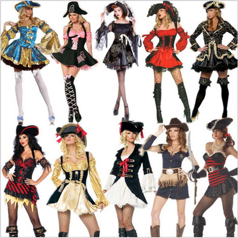 Sexy Women Adult Pirate Costume high quality Carnival Perfor mance Halloween Cosplay Fancy Dress New Plus size Party Costumes