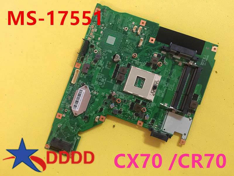 все цены на Original FOR MSI CX70 laptop motherboard MS-1755 MS-17551 fully tested AND working perfect онлайн