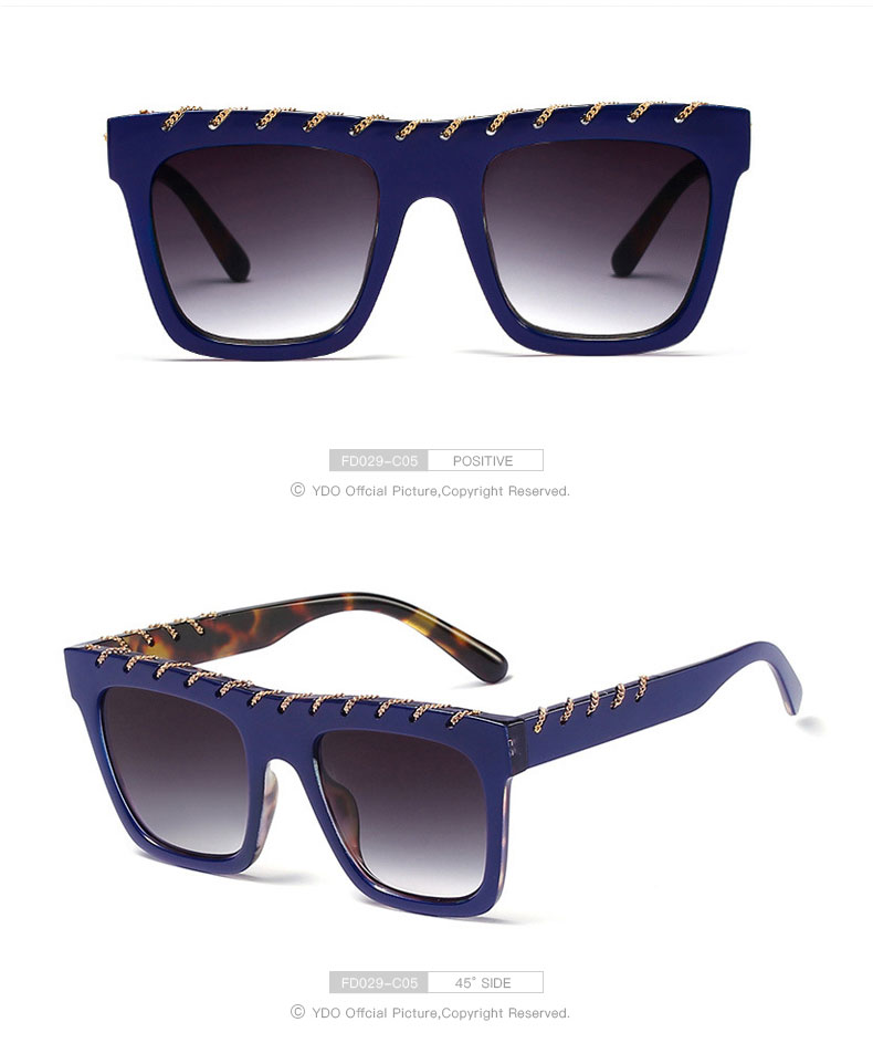 YDO Big Size Sunglasses Women 2019 Square Sunglasses Luxury Brand Vintage Sunglasses  Oversized Sun Glasses Fashion Shades UV400 (11)