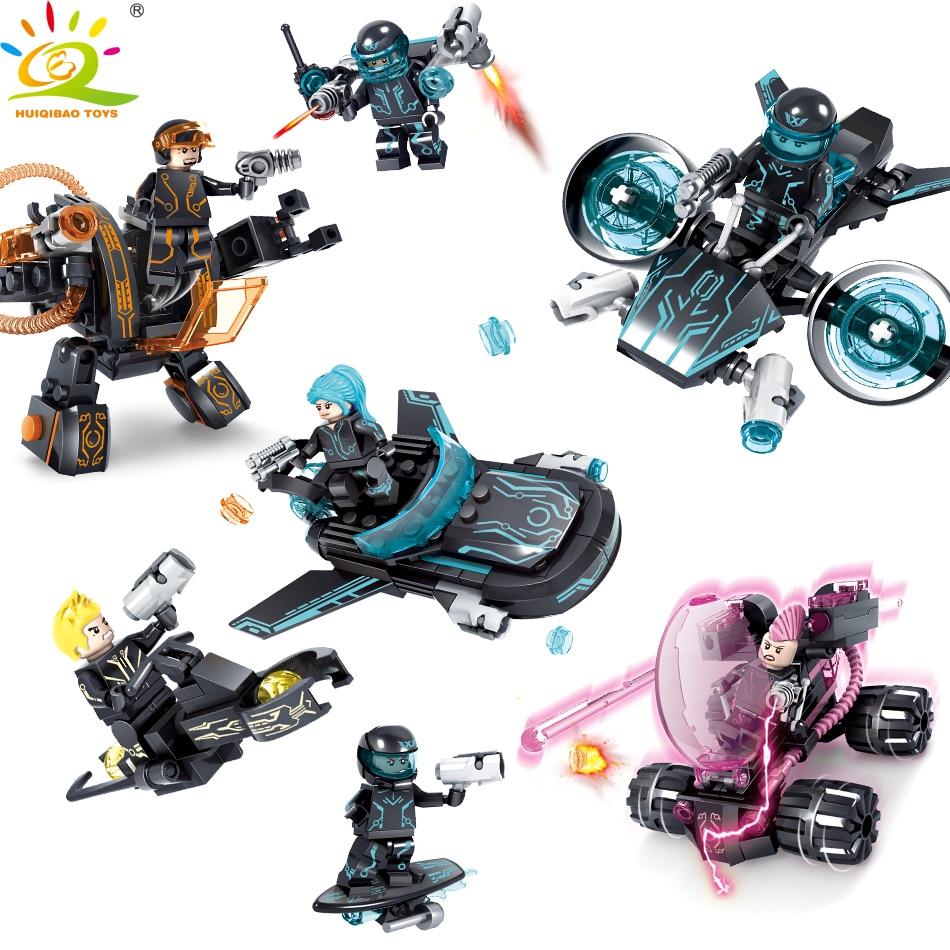 HUIQIBAO 453pcs Police Series Technic Weapon Building Blocks Educational Toy For Children Compatible Legoed City Figures Bricks