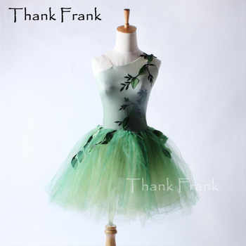 Tree Leaves Ballet Tutu Dress Children Adult One-Shoulder Neckline Performance Dance Costume C294 - DISCOUNT ITEM  0% OFF All Category