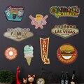 Retro Wifi Placa Sinal Do Metal Hot Dog Hamburger Cafe Bar Pub Cerveja da Casa do Restaurante Restaurante Decoração Da Parede Do Metal Do Vintage Sinal Aberto