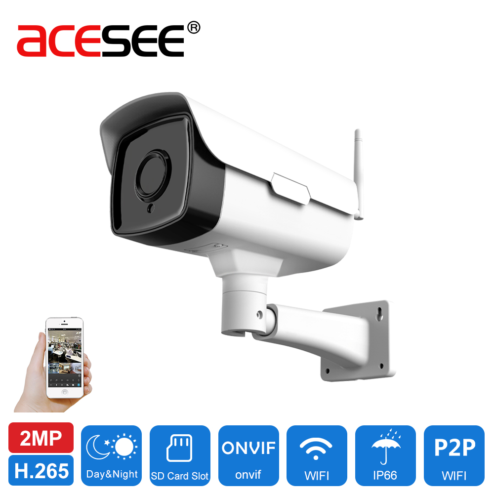 Acesee Wifi Cam 6mm IP Camera Wi Fi Home Security Video Surveillance Outdoor Cameras 1080p Nightvision with SD Card Wi-fi Camera ip cam