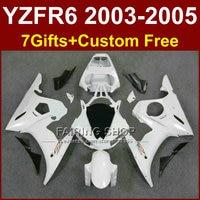 Classic white R6 custom fairing parts for YAMAHA r6 Motorcycle fairings sets 03 04 05 YZF R6 2003 2004 2005 fairing kits KI5T