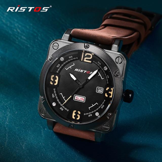 0c88e0d7ec33 Descripción del Producto. Delante de mi reunión con China Top Sport Mens  relojes de cuarzo choque ejército militar correa cuero genuino Reloj ...