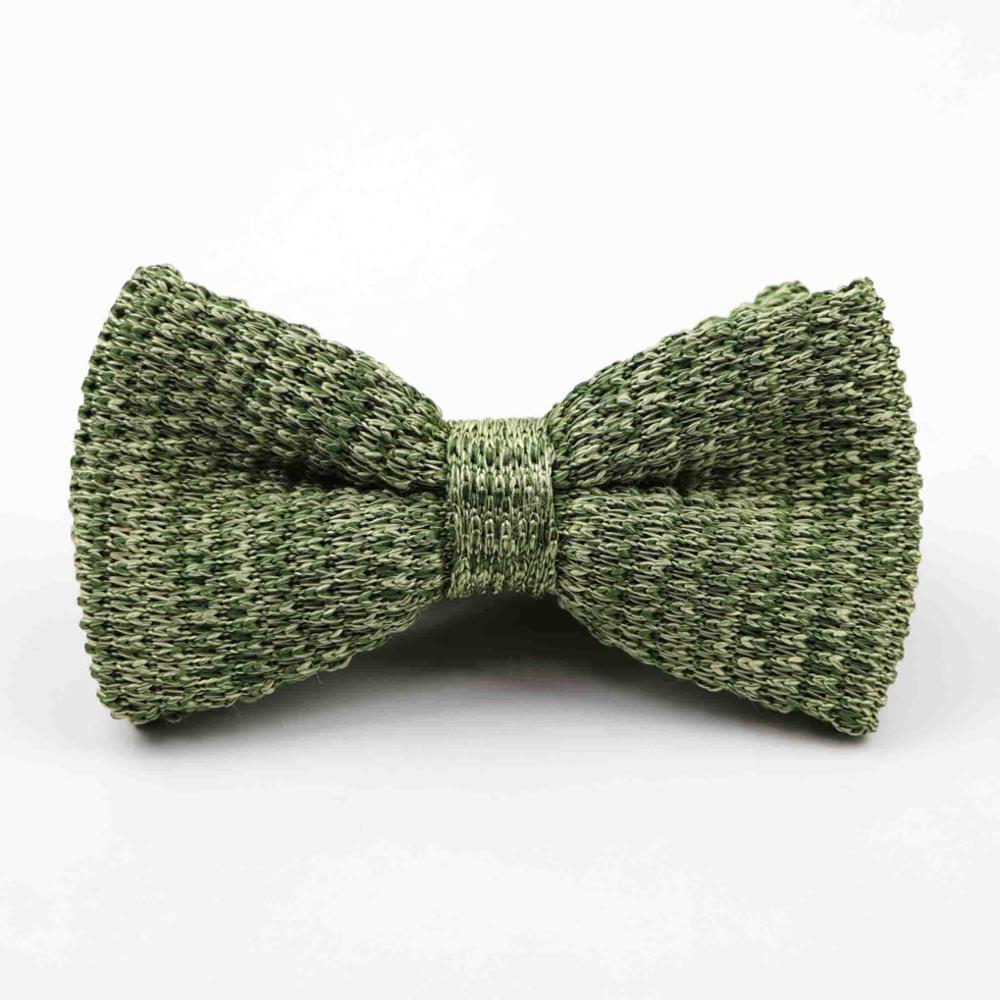 Мужские галстуки для шеи, смокинг, вязаная бабочка, Одноцветный галстук-бабочка, толстый двухслойный предварительно завязанный Регулируемый вязаный Повседневный галстук - Цвет: 39