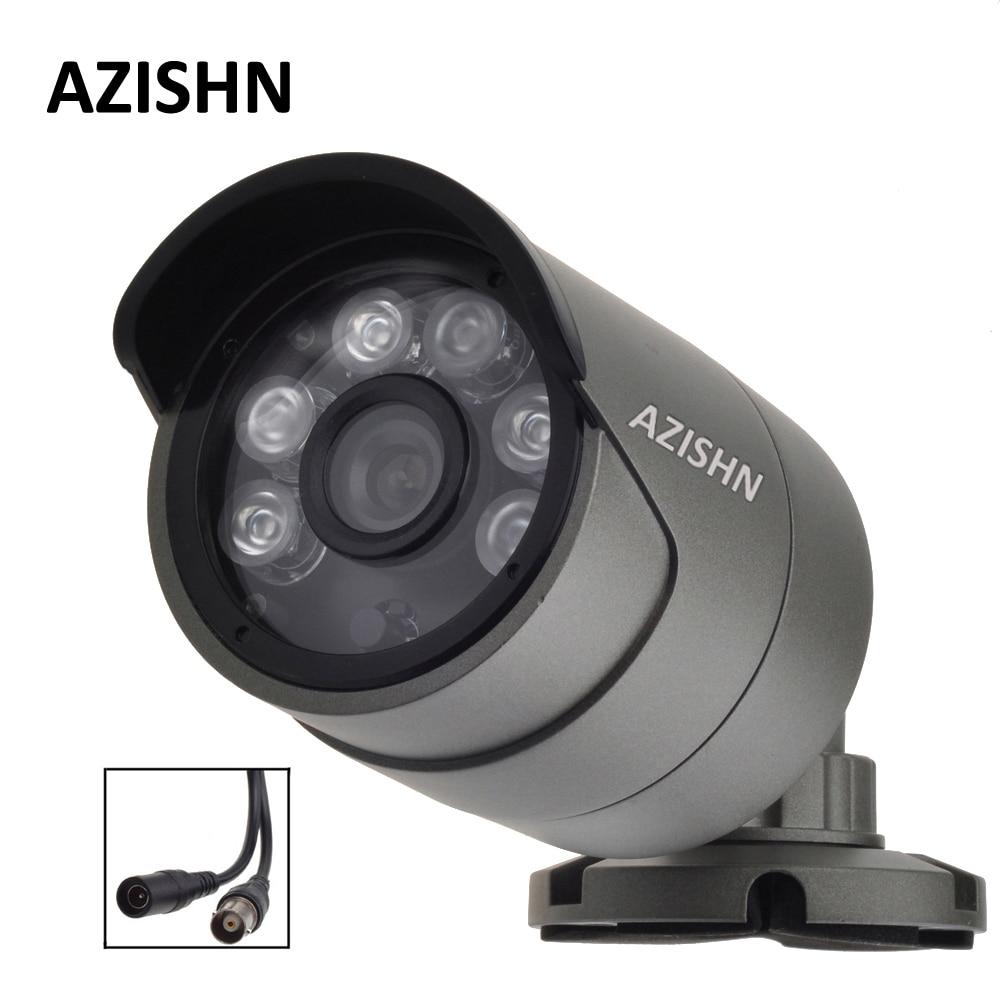 CCTV AHD caméra 1.0MP/2.0MP 720 P/1080 P métal Étanche IP66 Extérieure 6 PCS LED de Sécurité de Surveillance caméra IR Cut