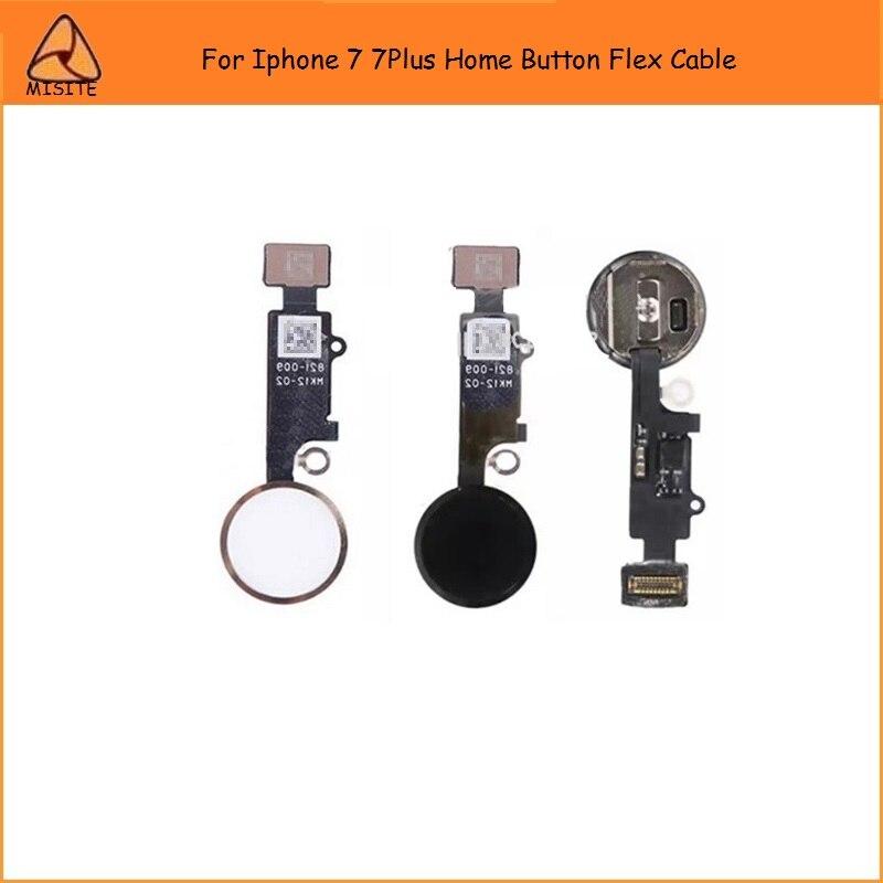 2PCS/LOT New High Quality Home Button Key Button Flex For Iphone 7 7G 7Plus Home Button Flex Cable Assembly Wholesale