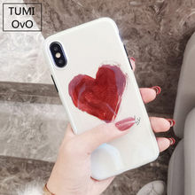 For Iphone X Case Graffiti Blue Ray Shell Phone Hearts Soft Slim Fit Full Protective Cover For Iphone  Plus 8 Plus Cases