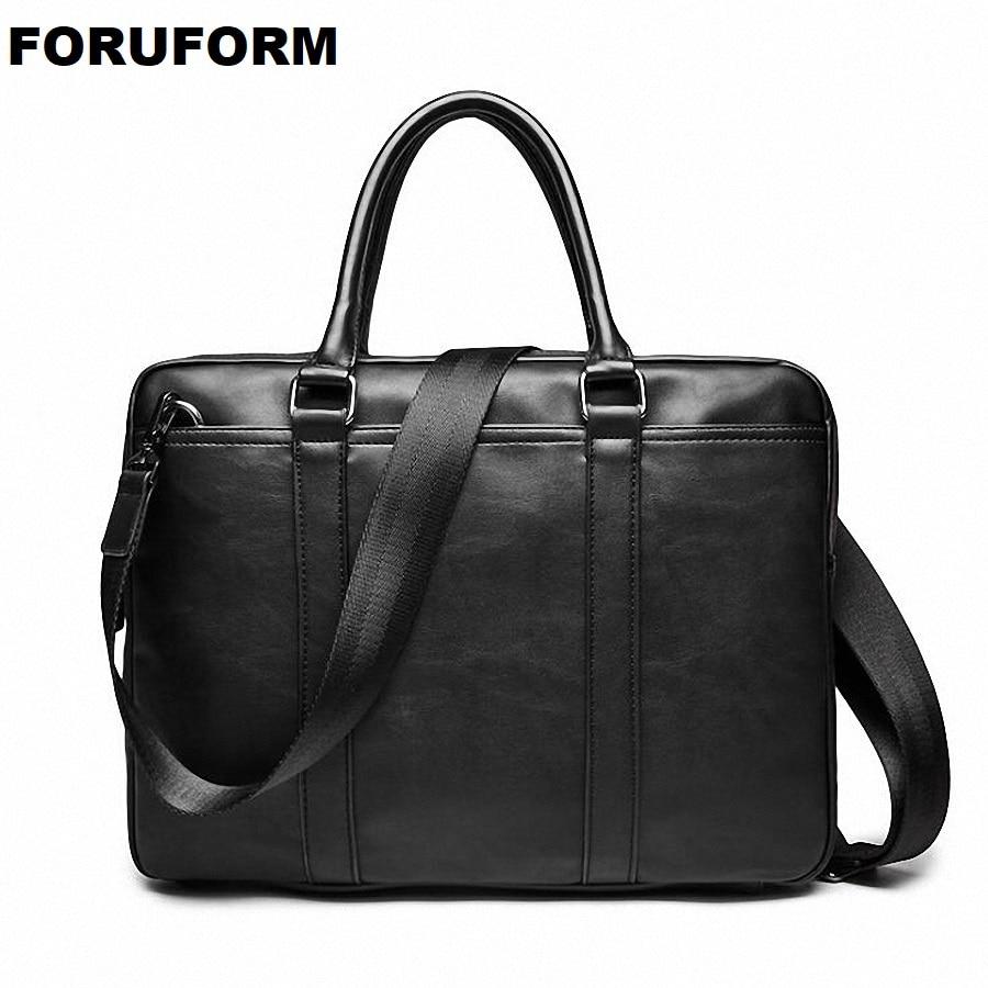 2018 New Arrival Famous Brand Business Men Briefcase Bag PU Leather Laptop Bag Briefcase Male PU Leather Shoulder Bags LI-2169