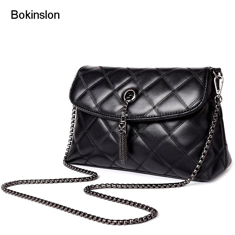 Bokinslon Girls Shoulder Bags Rivet PU Leather Female Crossbody Bags Small Fresh Fashion Popular Ladies Small Bags pink pvc crossbody bags with small pu bags