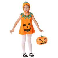 Halloween Costumes For Kids Girls Pumpkin Cosplay Performance Party Dresses S M L XL Size EK195/EK199
