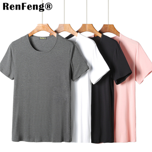 Image 3 - 2020 kühlen T Hemd Männer 95% Bambus Faser Hüfte Hop Grund Leer Weiß T shirt Für Herren Mode T shirt Sommer Top t Tops Plain Schwarz