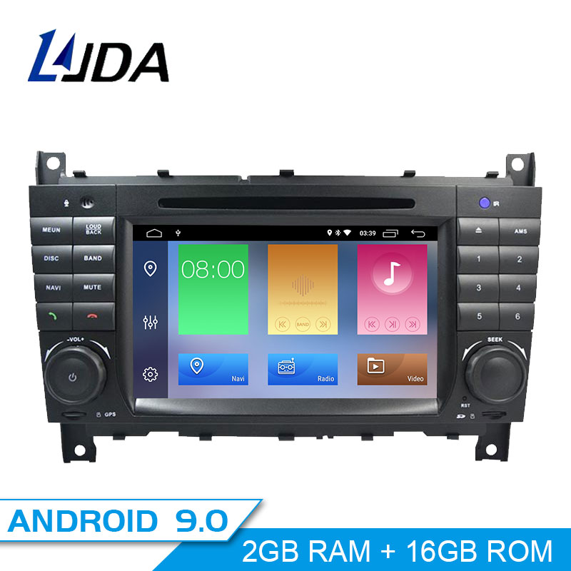 LJDA 2 Din <font><b>Android</b></font> 9.0 Car Radio For <font><b>Mercedes</b></font> Benz <font><b>W203</b></font> W209 W219 A-Class A160 C-Class C200 Car Multimedia Stereo <font><b>GPS</b></font> DVD IPS image