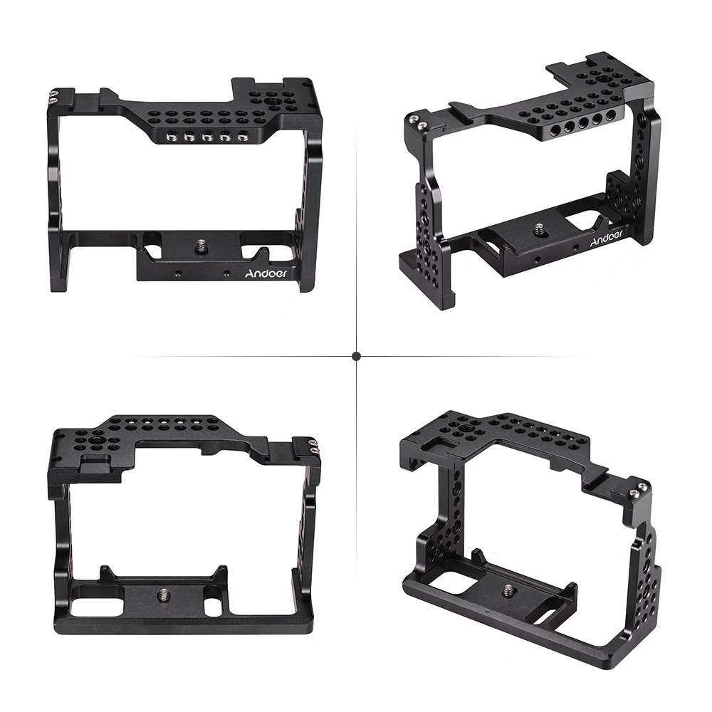 """Andoer Video Film Movie Making Stabilizer Aluminum Alloy 1/4"""" Screw Camera Cage for Sony A7II/A7III/A7SII/A7M3/A7RII/A7RIII-in Camera Cage from Consumer Electronics    2"""