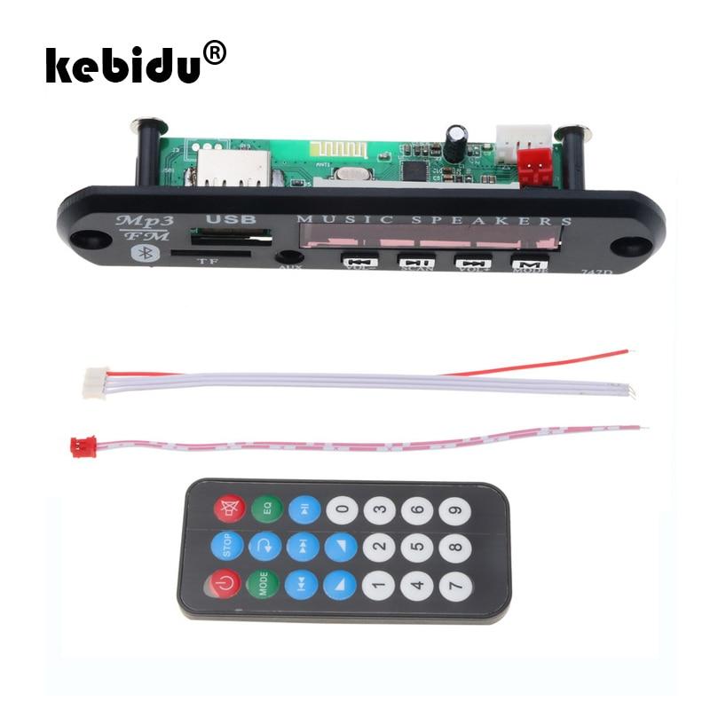 kebidu MP3 WMA Decoder Bluetooth Audio Module Board Wireless USB TF FM Radio 5V 12V for Car Build in Car Speaker MP3 Player bluetooth