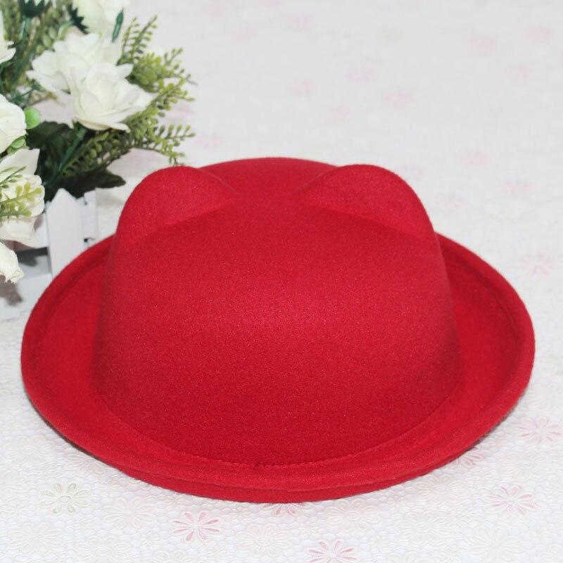 1b624fd9 2015 Promotion Korea Brand Bear Hat Start Round Hat New Women'S Fashion  Unique Cat Ears Hat Cap Trendy Bowler Derby Wool Hat Cap-in Fedoras from  Apparel ...