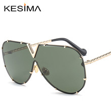KESIMA One Piece Lens Big frame Driving woman sunglasses oversize shades mirror aviator man sunglasses font