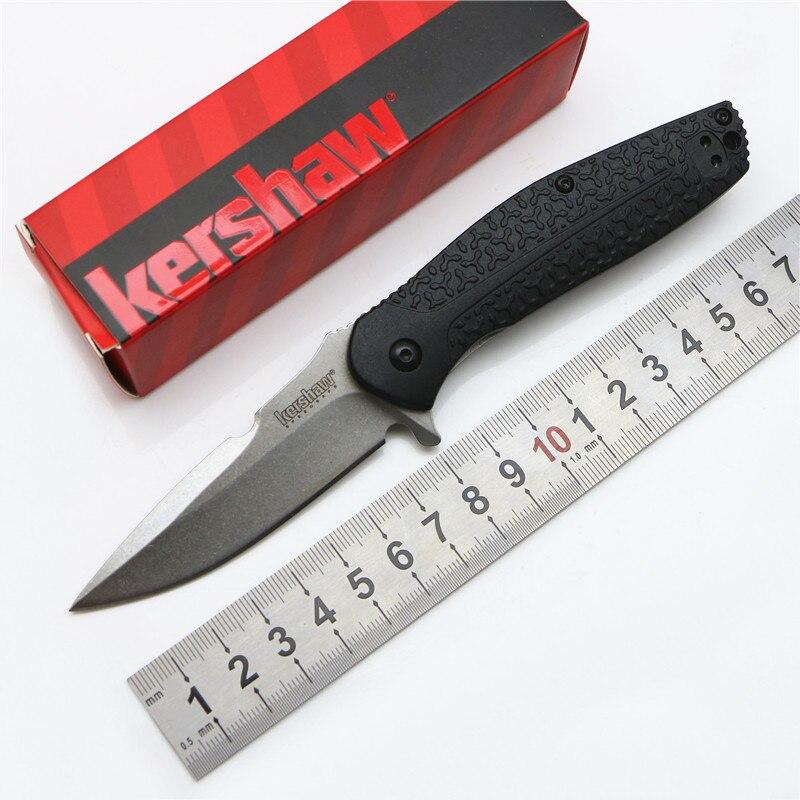 Kershaw 1970 flipper folding font b knife b font 8Cr13Mov blade nylon fiberglass steel handle camping