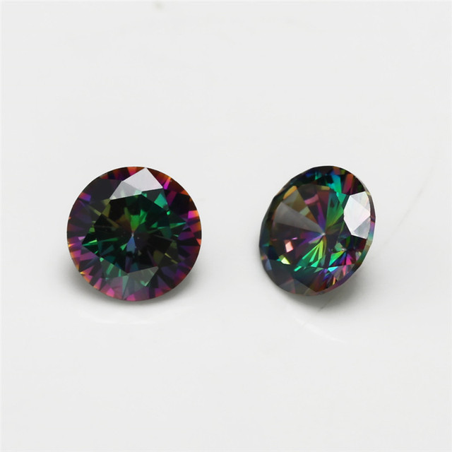 Фото искусственные камни круглой формы с разноцветным кубическим