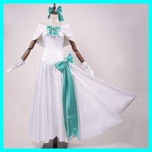 Game Fate Grand Arturia Costume Saber Cosplay Uniform White Dress FGO 2nd Anniversary Fancy Halloween Cosplay Costumes(China)