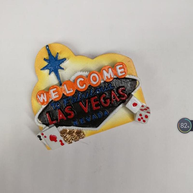 1 Pcs Hot Sale Las Vegas The United States Tourist Travel Souvenir 3D Resin Decorative Fridge Magnet Stickers Craft Gifts