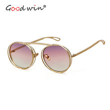 Good Win Gold Silver Sunglasses Women Men Luxury Pilot Gradient Clear Sun Glasses For Female Male UV400 Oval Eyewear lunette