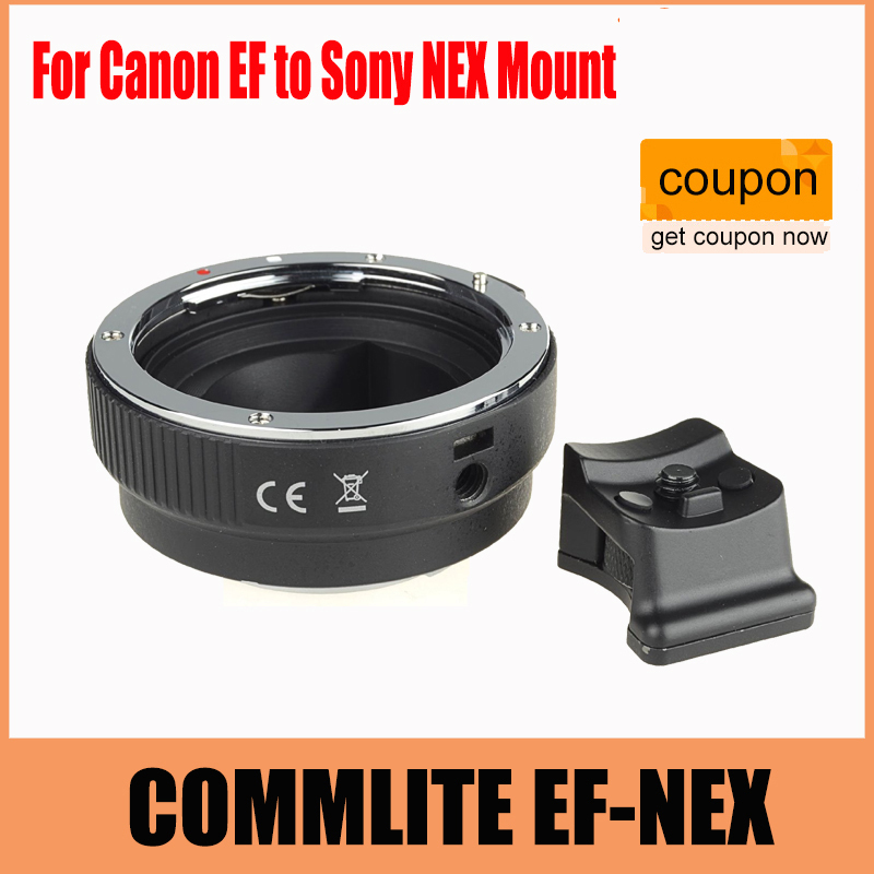 COMMLITE Auto-Focus Mount Adapter EF-NEX for Canon EF to Sony NEX Mount camera auto focus lens adapter ii for canon eos ef ef s to sony full frame nex a7 a7r