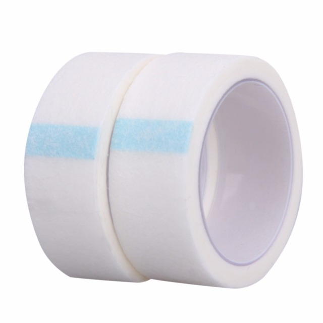 New 2 Rolls Medical Tape Professional Non-woven Medicine Use Eyelashes Extension Micropore Paper Tape