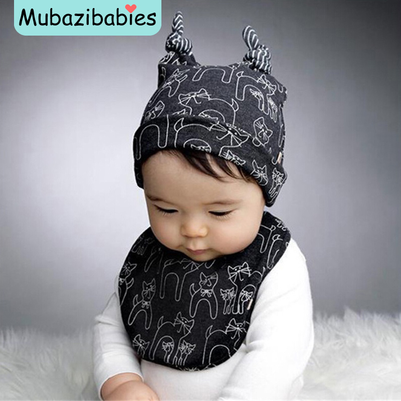 Baby Boy Cotton Hat Cat Warm Baby Beanie Cozy Piece Fitted Kids Hats Lovely Boy Hat