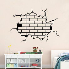 3D breaking wall stickers for sport room living room girl home decorations wall decals Free shipping  9304