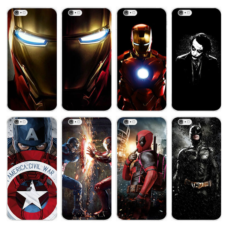 Marvel Superman Iron Man Batman DC Comics Soft Silicone TPU Case Cover For iPhone 6 6S 7 8 Plus 5S SE X Xs Max Xr Capinha Coque marvel glass iphone case