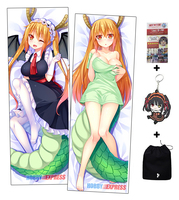 Hobby Express Miss Kobayashi's Dragon Maid Dakimakura Japanese Hugging Body Pillow Cover H-TOHRU-A