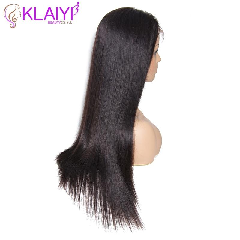 Klaiyi cabelo brasileiro em linha reta remy peruca de cabelo 12 26 Polegada 13x6 perucas de renda frontal 150% densidade peruca de cabelo humano #613 cor natural - 5