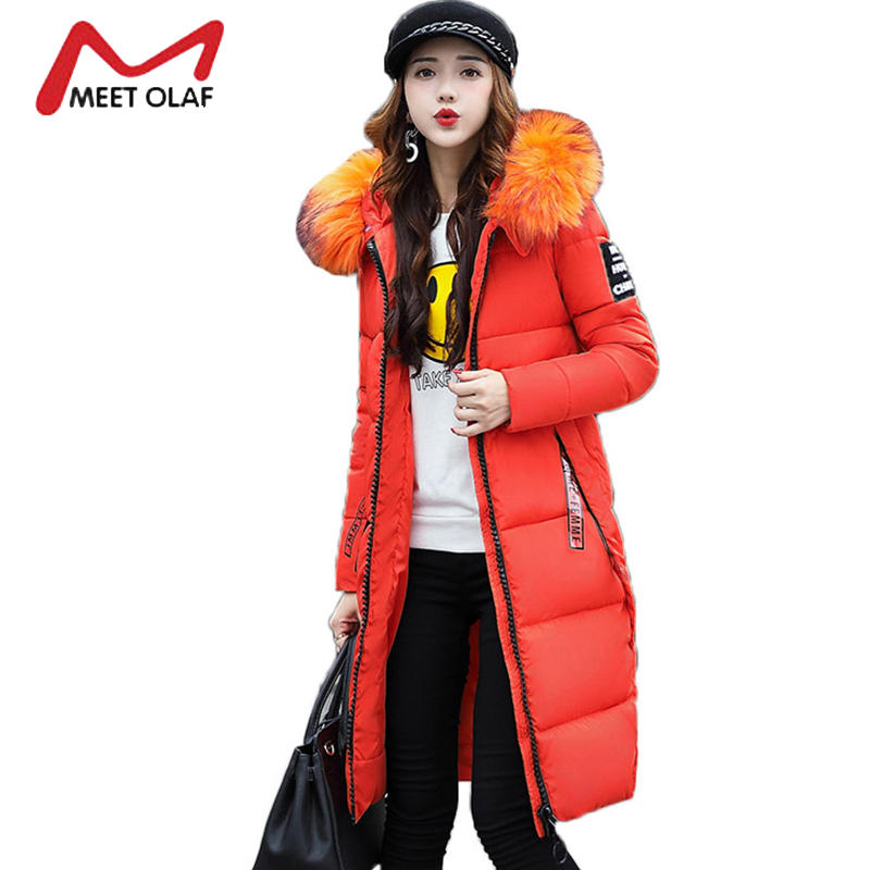 Fur Hooded Winter Coats Women Winter Down Jackets 2017 Thick Park Female Cotton Padded Parka Wadded Ladies Snow Outwear Y1010 womens coats and jackets thick fur collar winter jacket women hooded cotton wadded jacket parka female outwear maxi coats c3708