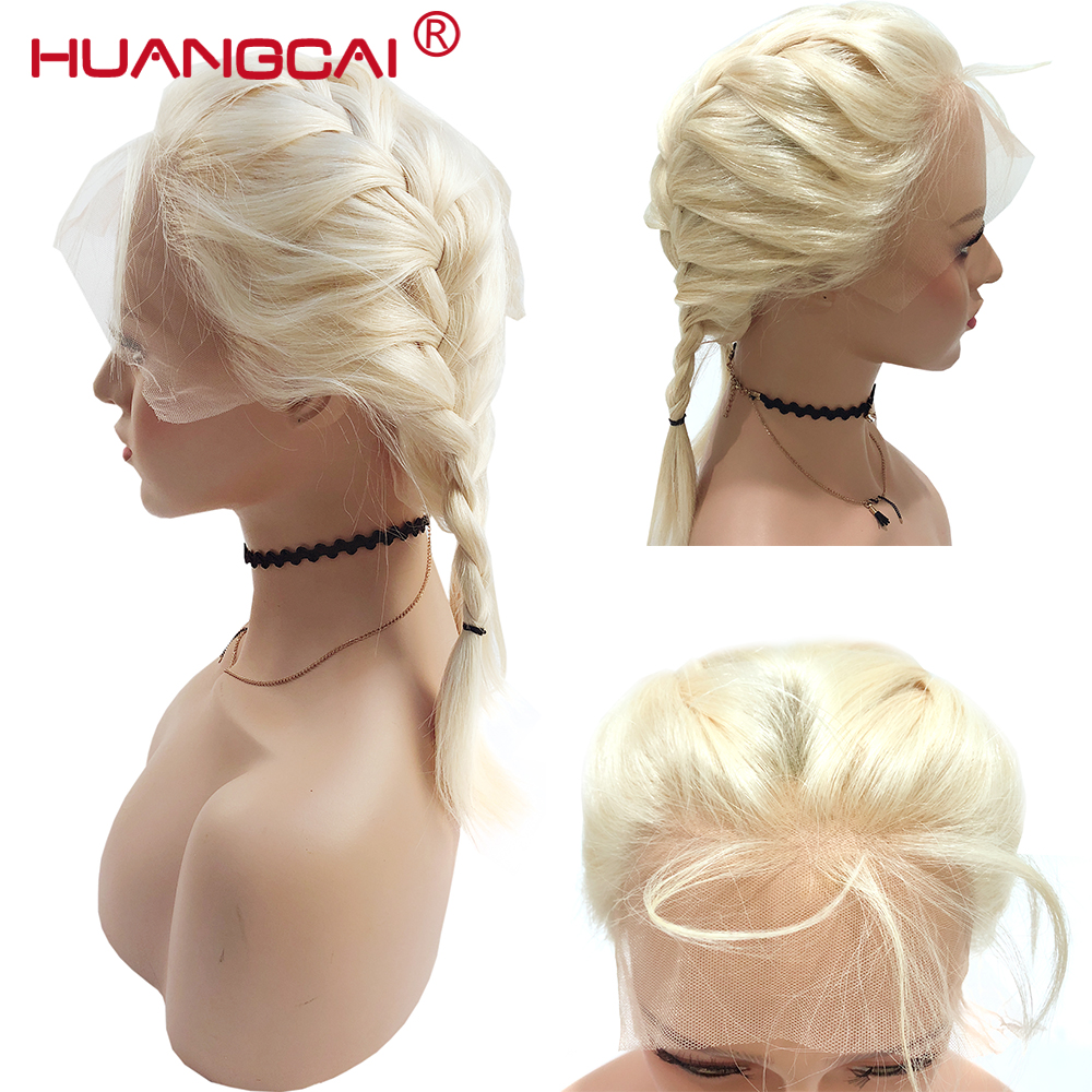 Glueless #613 Blonde Lace Front Human Hair Wigs Brazilian Straight Lace Front Wig Pre Plucked Honey Blonde Remy 13*4 Lace Wigs-in Human Hair Lace Wigs from Hair Extensions & Wigs    2