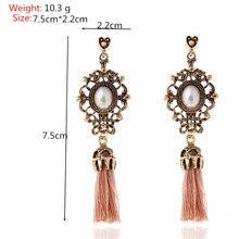 Rhinestone Long Tassel Earrings