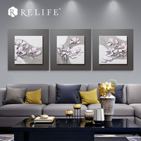 Wall Art Flower Pictures Home Decoration Resin Carved Painting For Living Room