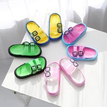 Летние Тапочки детские пляжные туфли для девочек детские тапочки домашние шлепанцы для мальчиков Детская уличная повседневная обувь корейский нескользящий светильник