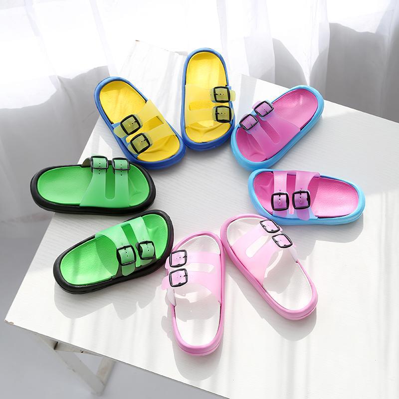 Summer Slippers Kids For Girls Beach Shoes Baby Slipper Boys Home Flip Flop Children Outdoor Casual Shoes Korea Non-slip Light