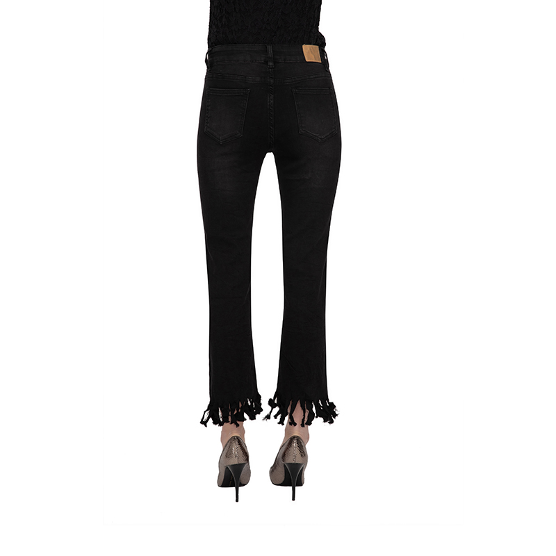 My Will Jeans Zipper Cropped Trousers Black Jeans 631 Made In China